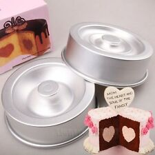 Non-Stick Heart Tasty Fill Round Cake Baking Pan Tin Set pastry Decorating mold