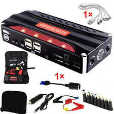 80000mAh 4USB Multi-Function Car Jump Starter Power Bank Rechargable Battery 12V