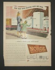 Original Print Ad 1946 NORGE Appliances Stove washer  Vintage Art