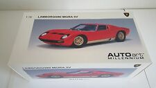 Autoart 1/18 Lamborghini Miura SV in red with gold side skirts and wheels, RARE.