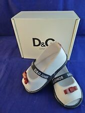 New with box Dolce & Gabbana baby girl white shoes size UK 2,EU 18, 6-9 months