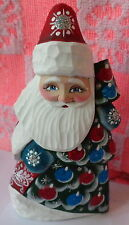 "Russian hand carved&painted wood Santa Father of Frost.6.0 ""   #20 ss"