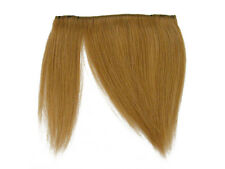 CLIP-IN HUMAN HAIR FRINGE BANGS CYBERLOX #27 HONEY BLONDE UNCUT 8""