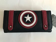 Loungefly Marvel Captain America Tri Fold Womens Wallet Licensed