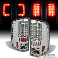 2007-2013 Chevy Silverado 1500 07-14 2500HD 3500HD C Shape LED Tail Lights Lamps
