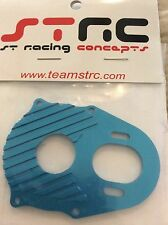 STRC Tamiya CR01 CNC Aluminum Center Transmission Motor Plate BLUE Crawler