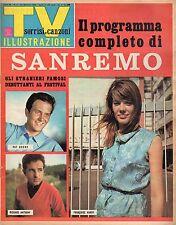 [MAB30] rivista - TV SORRISI E CANZONI - Anno 1966 Numero 4 SANREMO