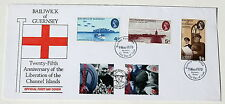 LIBERATION OF CHANNEL ISLANDS GUERNSEY 25TH & 50TH ANNIV 1970/1995 DOUBLE COVER