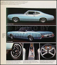 1970 Oldsmobile Sales Catalog 442 W30 W31 W 30 W 31 Supreme S F 85 Cutlass Olds
