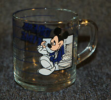 Mickey Mouse Break Time Coffee Tea Mug/Cup/Glass, Disney, vtg, Anchor Hocking