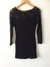 Atmosphere Black Dress Long Sleeve Lace Size 10  R1733