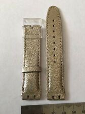 Swatch 17mm watch Gold Glitter Leather 033
