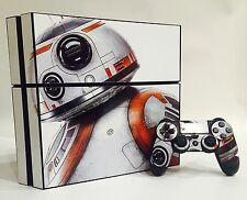 BB-8 STAR WARS Skin Sticker Vinyl Decal Cover PlayStation PS4 Console+Controller