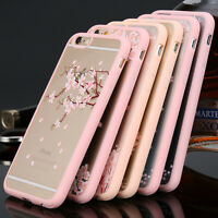 Colorful Cherry Flower Transparent Phone Case Cover for Apple iphone 5s 6s plus