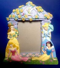 Disney Princess Picture Frame 3D Purple Belle Cinderella Tinkerbell Beauty Snow
