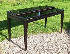 Stylish Black Lacquered Shop Retail Display Table ~ with Glass Insert
