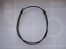 1 BLACK Leather Cord STRING BANGLE . . . . . Friendship Bracelet Adjustable wrap