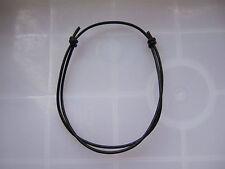 1 BLACK Leather Cord STRING BANGLE . . . . . Friendship Bracelet Adjustable wrap