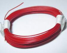 Altamente flessibile 0,04 mm² decoder trefolo Decoder Cavo Rosso 10m Anello > * NUOVO *