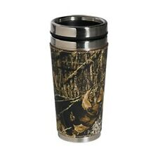 MOSSY OAK CAMO LEATHER TRAVEL COFFEE MUG - CAMOUFLAGE
