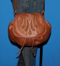 Vintage FRYE Tan Brown Leather Satchel Saddle  Shoulder Messenger Bag Purse Boho
