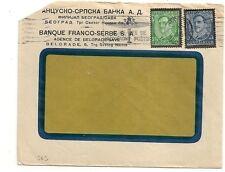 COVER YOUGOSLAVIE YUGOSLAVIA BANQUE FRANCO SERBE BELGRADE. L563