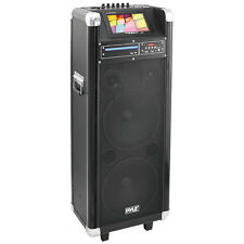 """Pyle PKRK210 10""""X2 Portable Pa Speaker With DVD 7""""Screen"""
