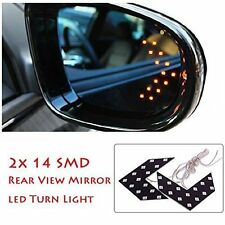 1 Pair of SMD LED Arrow Panel Lights for Car Side Mirror Turn Indicator :Yellow