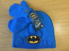 BNWT DC Batman Children Beanie Hat Gloves/Mitten NO SCARF Set 2-4 Winter Set