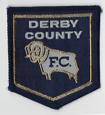 Original Vintage 1970s Football Sew On Patch Derby County Cloth Badge Unused