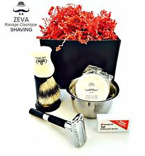 Safety Razor DE Shaving Set ZEVA Senstive Omega Dorco Quality 5in1 Men Gift #3