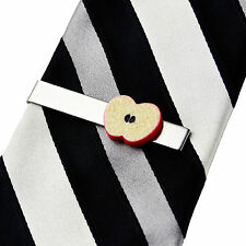 Apple Tie Clip - Fruits - Business Gift - Handmade - Gift Box