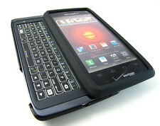 BLACK RUBBERIZED HARD SHELL SNAP-ON CASE COVER MOTOROLA DROID 4 PHONE ACCESSORY