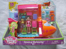 Polly Pocket Groovy Getaway Jet with Figure..New In The Box!!!