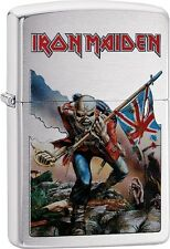 Zippo Iron Maiden Album Cover The Trooper High Polish Chrome Lighter 29432 *NEW*