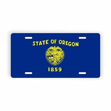 "Oregon State Flag Vanity Licence Plate 6"" x 12"" Aluminum Plate"