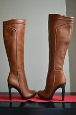 New Woman Rachel Zoe Chloe Luggage Tumbled Leather Platform Boots Size 6 Christm
