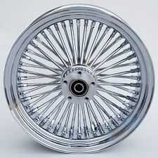 "Chrome Ultima 48 King Spoke 16"" x 3.5"" Rear Wheel for Harley and Custom Models"