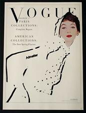 VOGUE FASHION MAGAZINE COVER POSTER MARCH 1953 PARIS SPRING COLLECTION ART PRINT