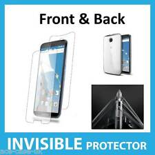 Motorola Google Nexus 6 INVISIBLE Screen Protector Shields - FRONT AND BACK inc