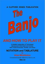 CLIFFORD ESSEX THE BANJO AND HOW TO PLAY IT WITH CD A4 WIRE SPIRAL BOUND 80 PAGE