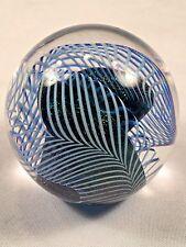 Modernist Robert EICKHOLT Swirl Art Glass PAPERWEIGHT Signed 1988