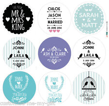 Personalised Wedding Sticker Labels | Mr & Mrs | Choice ur Size Colour & Design
