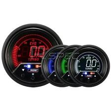 Prosport Evo 60mm Lcd 3 Bar Boost Gauge 4 Color Con Pico Y advertencia