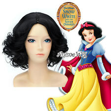 Snow White Snow White Black Curly Stylish Women Lady Anime Party Cosplay Wig