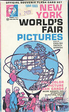 1964-65 New York World's Fair Pictures ( 28 Flash Cards ) Excellent in Box!