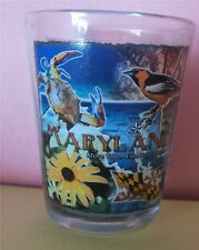 Maryland More than You Can Imagine - State Bird Flower and Flag - Shot Glass New