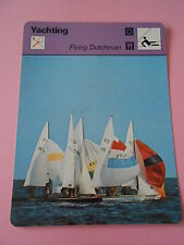 Yachting  Flying Dutchman Fiche Card 1972
