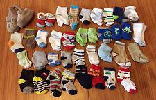 Lot Of 35 Pair Infant Baby Boys Socks Cars Trucks Monsters 0-12 Months