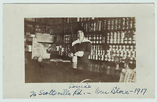RARE Real Photo - Rochester NY 76 Scottsville Rd Store Interior Unique RPPC 1917